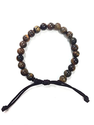 Amazoncom Maslov Beads Adjustable Tiger Eye Bracelet Shamballa