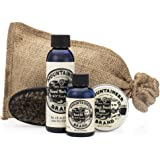 Beard Care Kit by Mountaineer Brand: All-Natural, Complete Beard Care in one Kit (Original): Includes Beard Oil, Beard Balm, Beard Wash, and Beard Brush