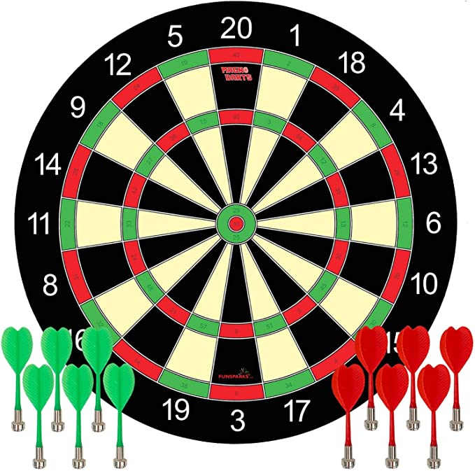 Funsparks Magnetic Dart Board Game - An Authentic Design