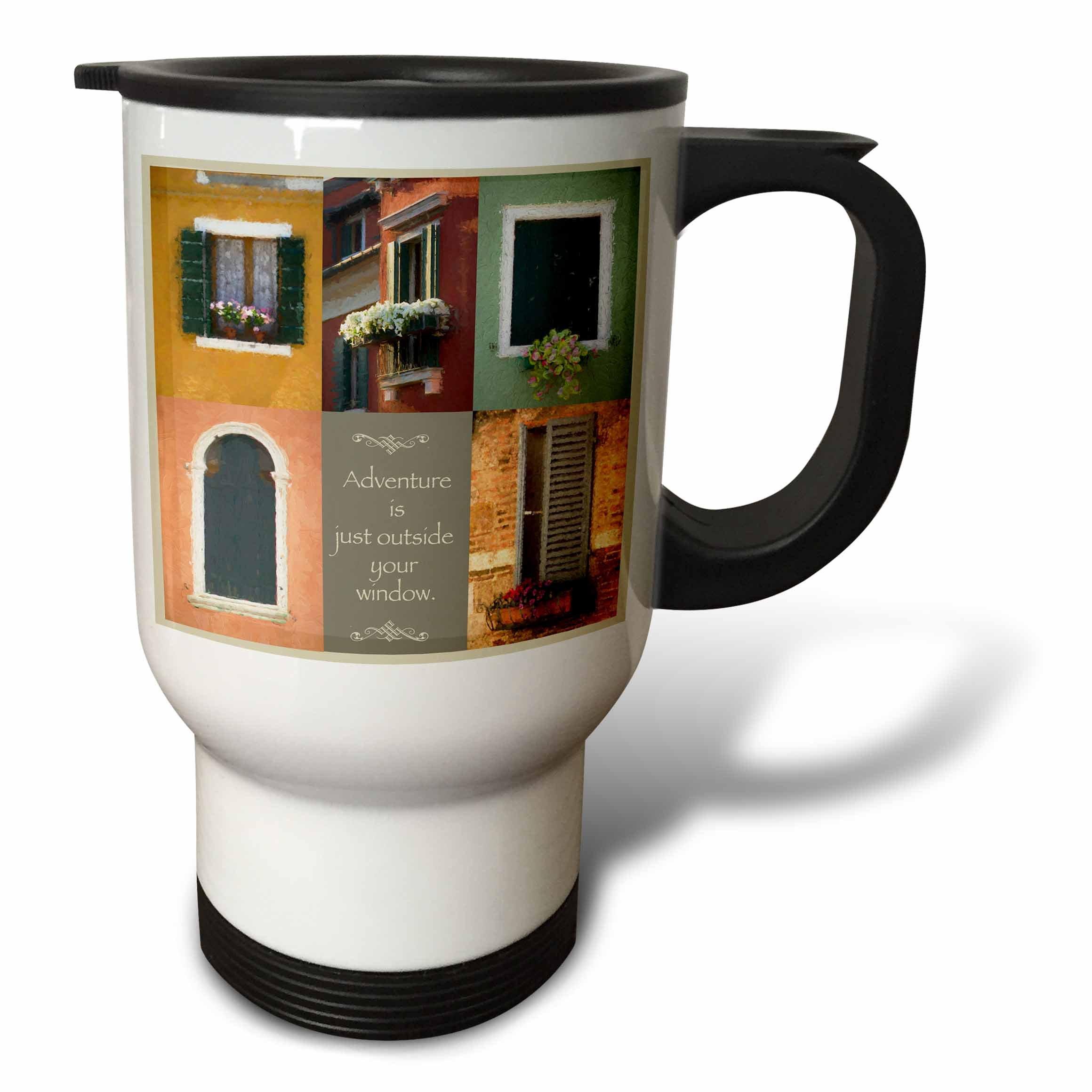 3dRose Susan Kjellsen Photography - Windows - Antique windows - 14oz Stainless Steel Travel Mug (tm_280229_1)
