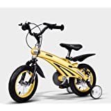Baby Carriage Air Magnesium Alloy Children's Bicycle 2-6 Years Old Men and Women Baby Bikes 12,14,16 Inch Kids Tricycles (Color : Yellow, Size : 12 inches)
