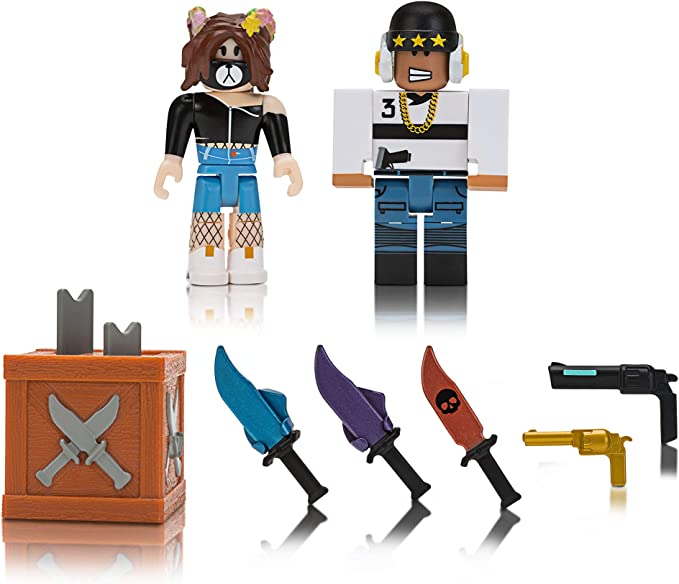 Amazon Com Roblox Action Collection Murder Mystery 2 Game Pack
