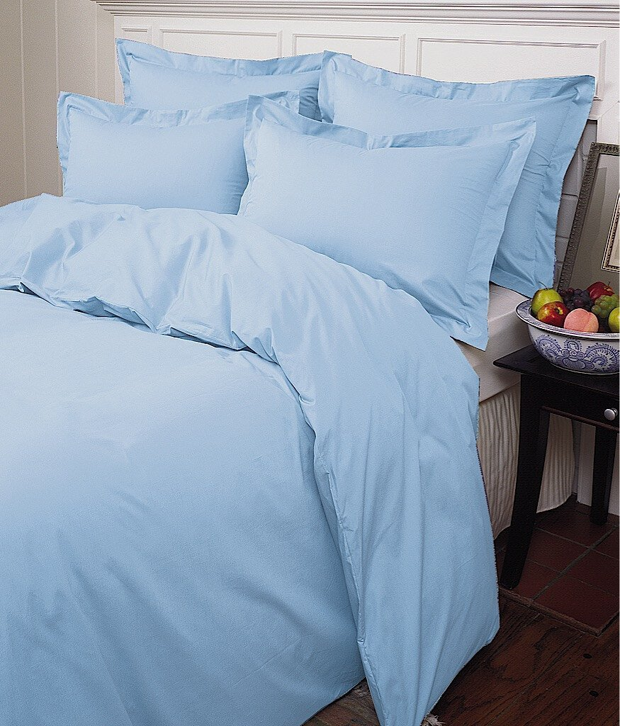 Warm Things Home 200 Egyptian Cotton Percale Duvet Cover Azure / King