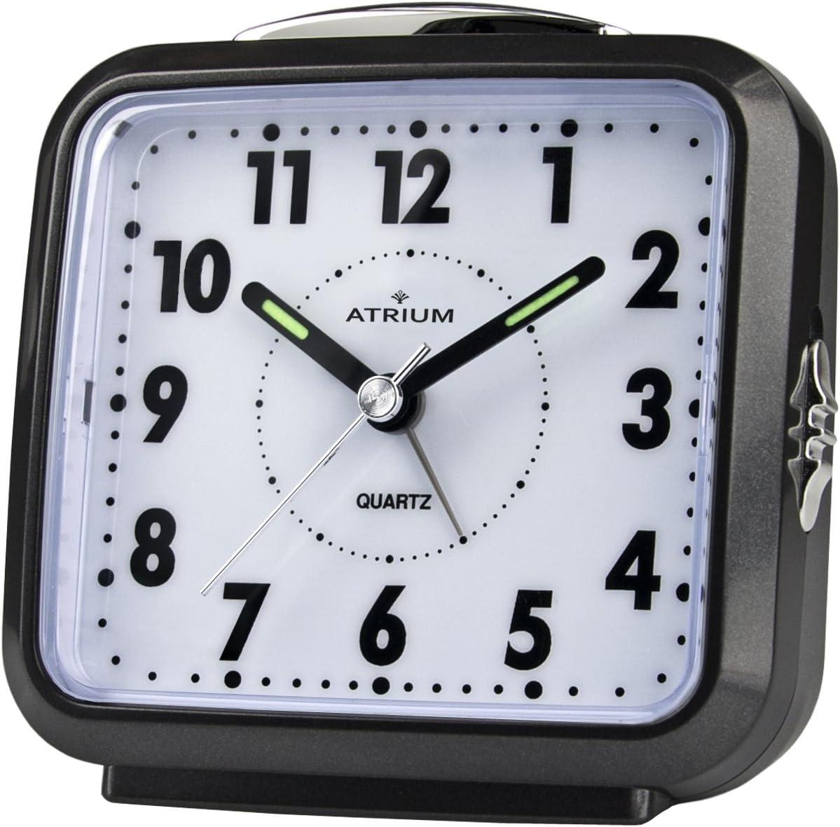 con luce e snooze sveglia analogica nera senza ticchettio Atrium A250-7