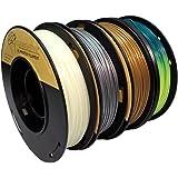 PLA 1.75mm 4x250g Gold/Silver/Glow in Dark/Temperature Change - Filament Set for 3D Printer - FrontierFila