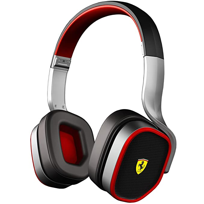 Amazon.com: Ferrari AAV-2LFH006S Scuderia R200 On-Ear Headphones - Silver (Discontinued by Manufacturer): Home Audio & Theater