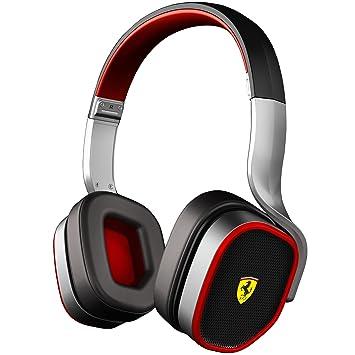 Ferrari R200 Negro, Rojo, Plata Circumaural Diadema auricular - Auriculares (Circumaural, Diadema