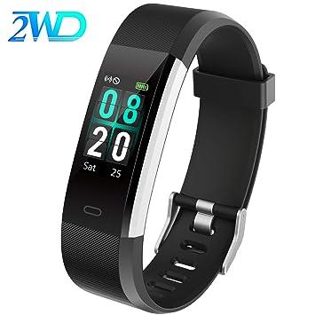2WD Reloj Inteligente para Mujer/Hombre Pulsera Actividad Smartwatch,Pulsera Impermeable de la Pantalla Táctil IP68,GPS/Rastreador de Actividad Física ...