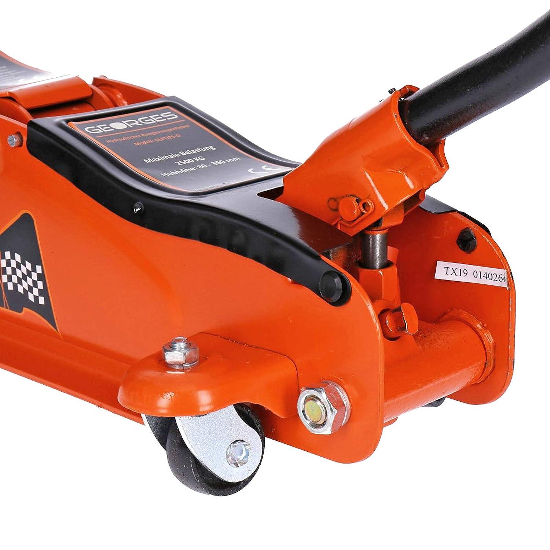 80-360 mm Basso Profilo 2,5 tonnellate GEORGES Cric Idraulico per Auto