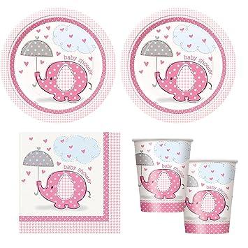 Amazon Pink Umbrellaphants Girl Babyshower Party Supplies