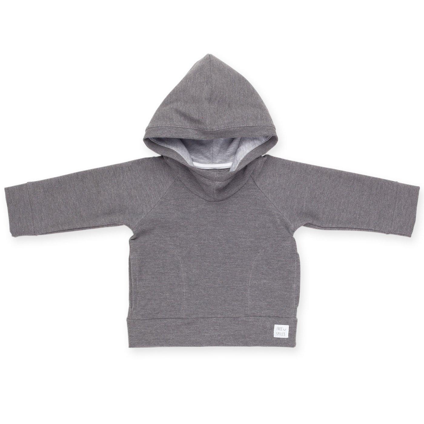 Jungen Kapuzen Sweatshirt//Shirt Baumwolle aus der Serie North Grey Pinokio Baby