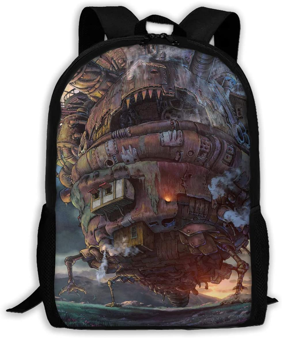 Joy R Daniels Howl s Moving Castle Adult Oxford Material Water-Resistant Individuality Travel Daypack College Student Rucksack
