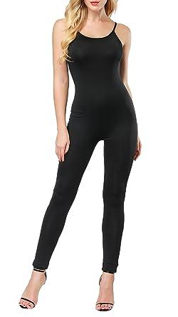ff303ffe778e Uhnice Women s Spaghetti Strap Bodycon Tank Jumpsuits One Piece Rompers  Catsuit (Small