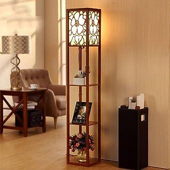 Moderne Minimalist Neuen Chinesischen Stil Aus Holz Stehlampe Wohnzimmer  Schlafzimmer Arbeitszimmer Schreibtischlampe Kreativ Retro Stehlampe (