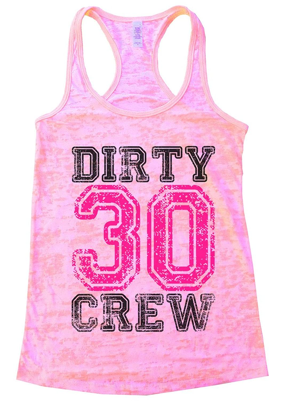 Funny 30th Happy Birthday Crew Tank Top 鈥淒irty Thirty Crew鈥