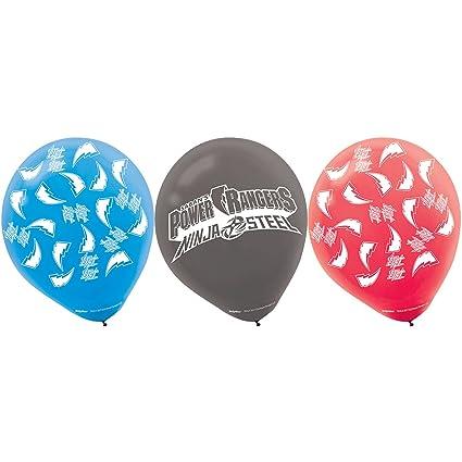 amscan Power Rangers Latex Balloons (6 Pack)