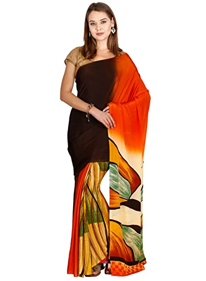 Buy Classicate From The House Of The Chennai Silks Soft Crepe Saree Multicolor Ccmysy7223 At Amazon In