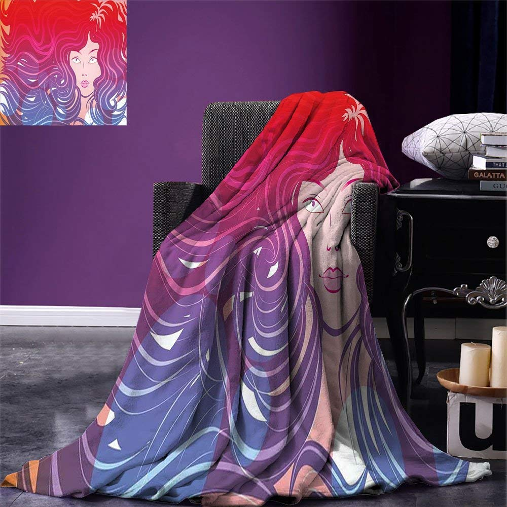 color12 90 x90  VAMIX Modern Warm Microfiber All Season Blanket Geometric Retro Design Background with Paisley Figures Spots Like Artwork Print Print Artwork Image£¬Multicolor, Multicolor, Blanket