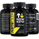 NOW KETO Keto + Burn Exogenous Bhb Ketone Supplement Capsules Ketosis Supplement To Support Fat Burn, Boosts Energy With Beta Hydroxybutrate Salts For Weight Loss 60 Capsules