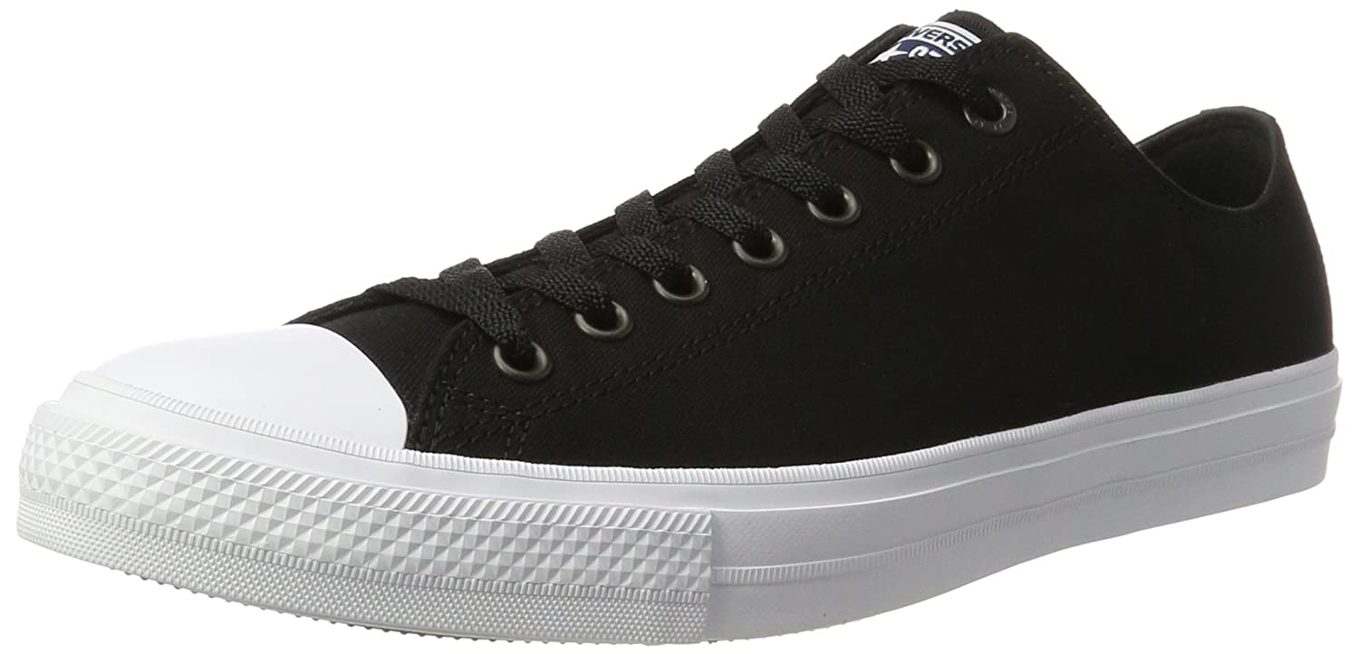 Converse Unisex Erwachsene Sneakers Chuck Taylor All Star Ii C150149 Low Top Schwarz Black/White/Navy