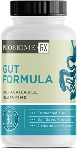 ProBiome Rx Gut Formula Supplements, Gut-Integrity Blend for Gut and Immune Support, L-Glutamine and Licorice Root, 10 Billion CFUs* Per Serving, 90 Capsules
