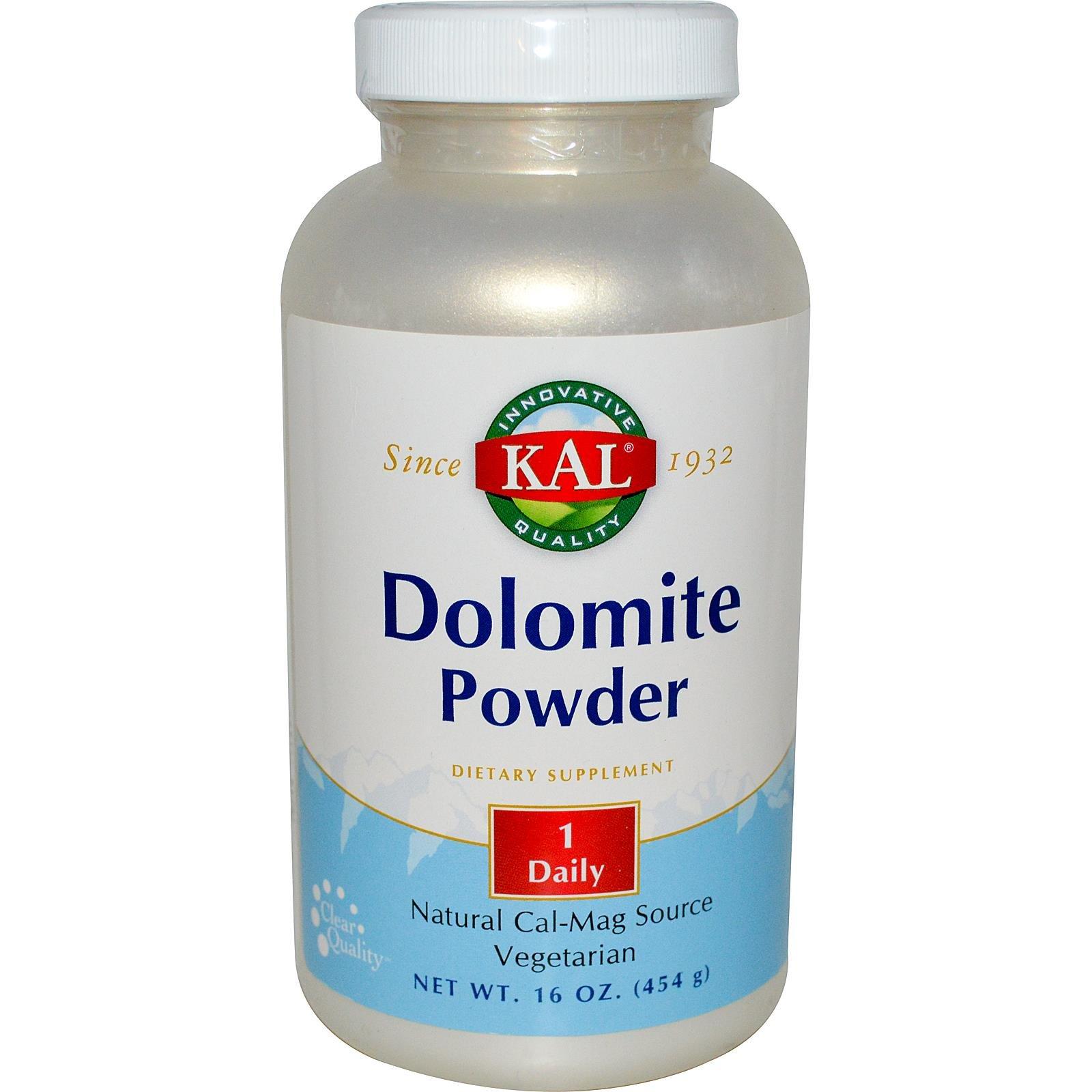 KAL, Dolomite Powder, 16 oz (454 g)