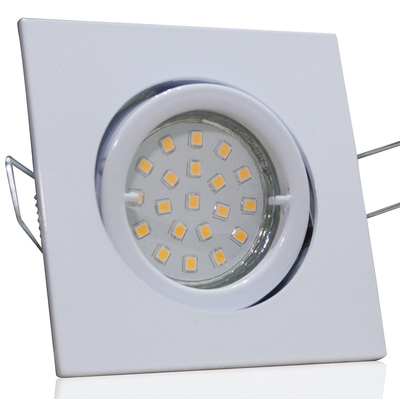4 Stück SMD LED Einbauleuchte Cube 230 Volt 9 Watt Schwenkbar Weiß Neutralweiß
