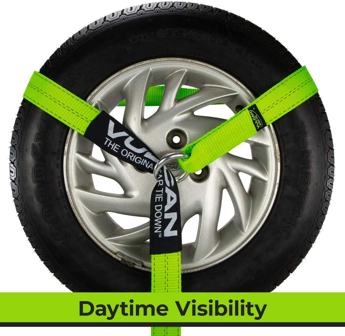 Vulcan Exotic Loop Style Auto Tie Down System Hi Viz Lime Green