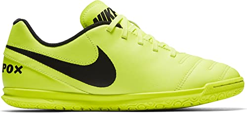 f76c10d42fec Nike Kids Jr Tiempox Rio III IC Volt Black Volt Indoor Soccer Shoe 1. 5  Kids US  Buy Online at Low Prices in India - Amazon.in
