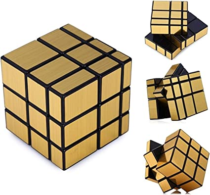 HALO NATION 3x3 Mirror Cube - High Speed , Smooth & Fast Puzzle Cube (Golden)