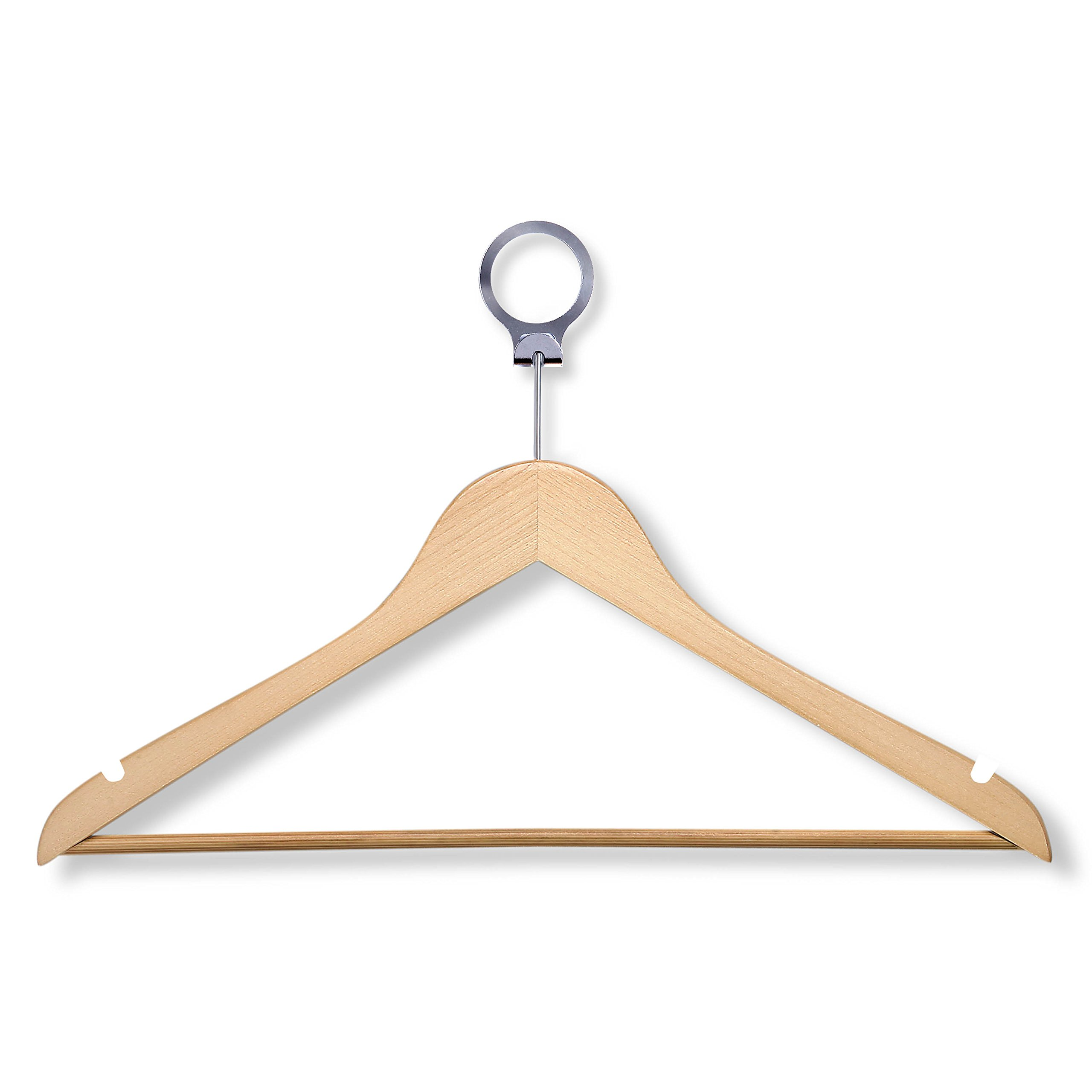 HoneyCanhDo HNG-01733 Hotel Suit Hangers, Maple, 24-Pack