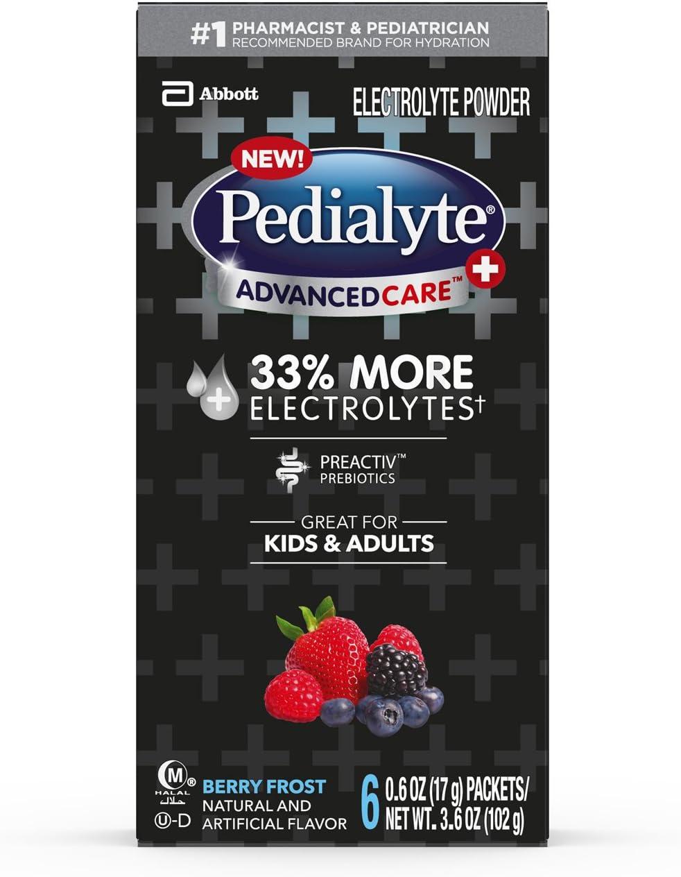 Pedialyte Advancecare Plus Powder, Berry Frost, 3.6 Oz