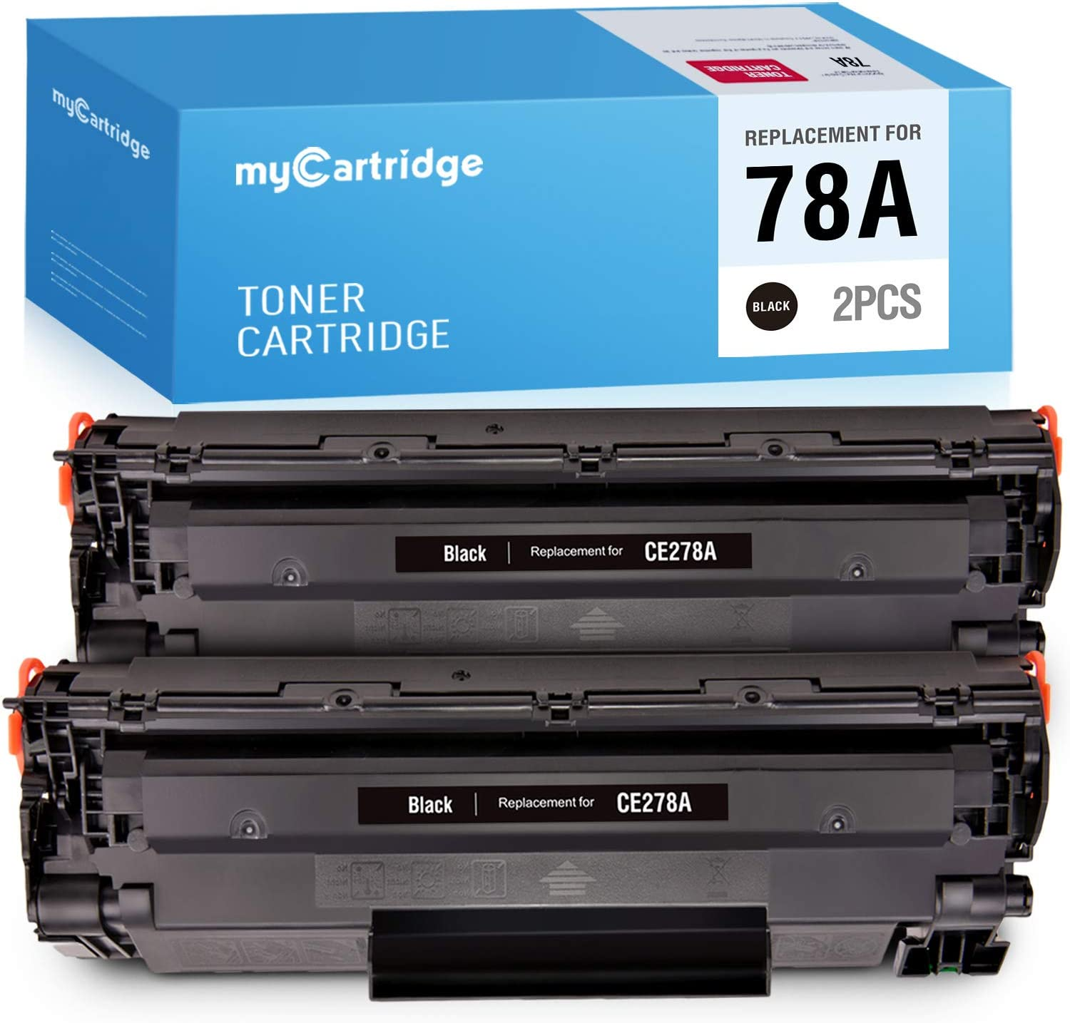 MYCARTRIDGE Compatible Toner Cartridge Replacement for HP CE278A 78A 2 Black Use with Laserjet P1606dn 1606dn Laserjet M1536dnf 1536dnf MFP Laserjet P1566 P1560