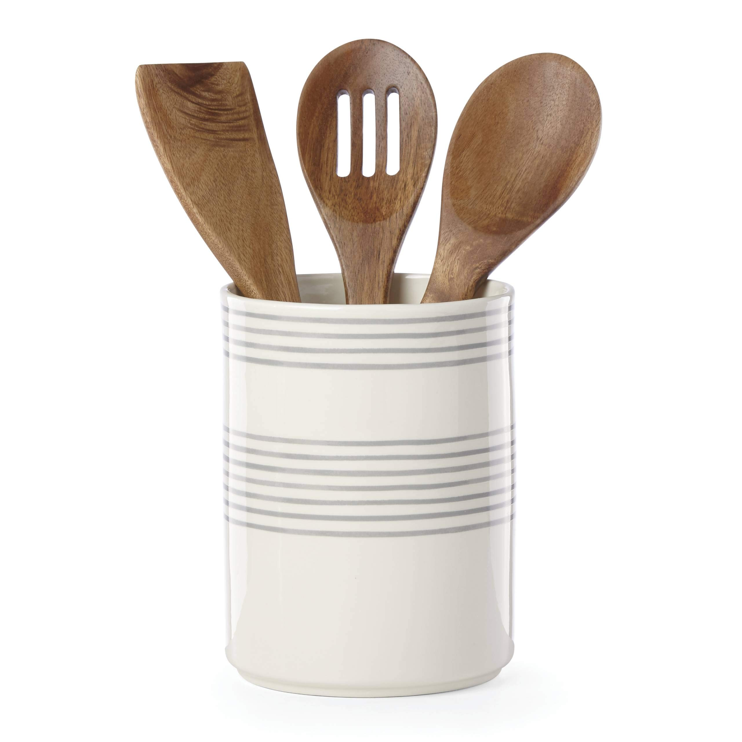 Kate Spade New York 885896 Charlotte Street utensil crock by Kate Spade New York