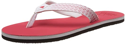 56b49a216 adidas Women s Brizo 4.0 Ws White and Rayred Flip Flops Moulded - House  Slippers Flip-