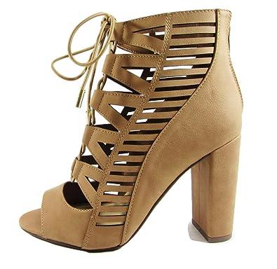 Women's Ankle Bootie Lace Up Tobias MVE Shoes
