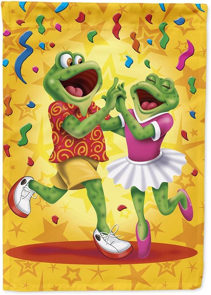 Caroline's Treasures APH3874GF Frog Swing Dancing Garden Flag, Small, Multicolor