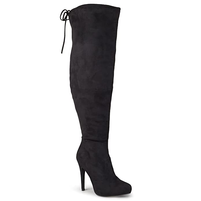Amazon.com | Journee Collection Women's Over-the-knee High Heel ...
