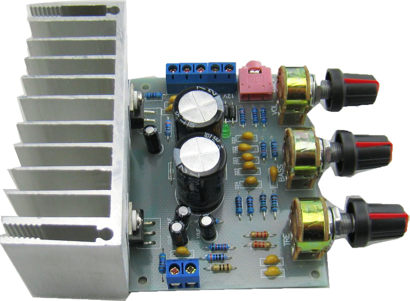 Yeeco Ac 8 18v Dual Channel Audio Amplifier Board Stereo Treble Tone Control Power Amp Module Adjustable Bass And 18w