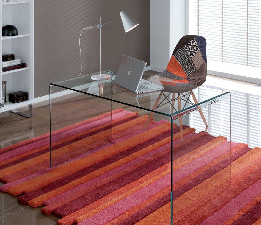 DUGARHOME - Mesas Escritorio - Oficina Cristal - iBERGADA: Amazon ...