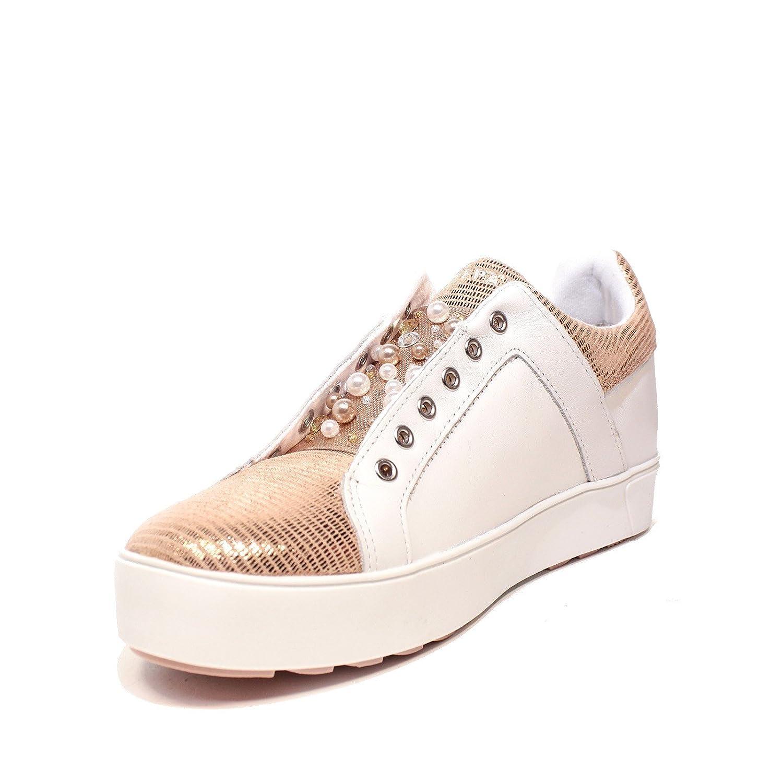 Resultado de imagen para APEPAZZA Zapatos de Mujer Zapatillas de Deporte Bajas Roxane Blanco/Rosa