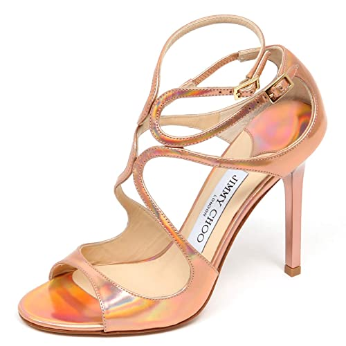official photos c453c 12272 Jimmy Choo F0878 Sandalo Donna Pink/Multicolor Lang Mirror ...