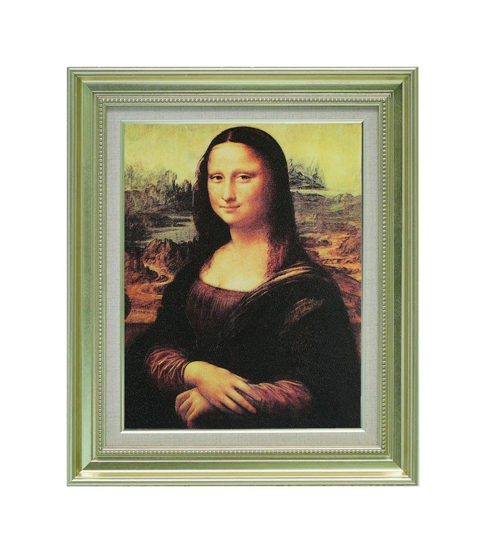 『モナリザ』 レオナルドダヴィンチ インテリア アートポスター 絵画 複製名画 複製画 壁掛け キャンバス地に表面ハイタッチメディウム加工、豪華額装 額縁 (22443 F6) B07221H979