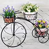 GIG Cycle Style Stand with Out Metal Pot: Large Tricycle,Planter Stand, Stand for Pots, Pot Stand for Plants, Pot Stand for Plants in Balcony (Black)