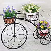 GIG Cycle Style Stand with Out Metal Pot: Large Tricycle,Planter Stand, Stand for Pots, Pot Stand for Plants, Pot Stand for Plants in Balcony
