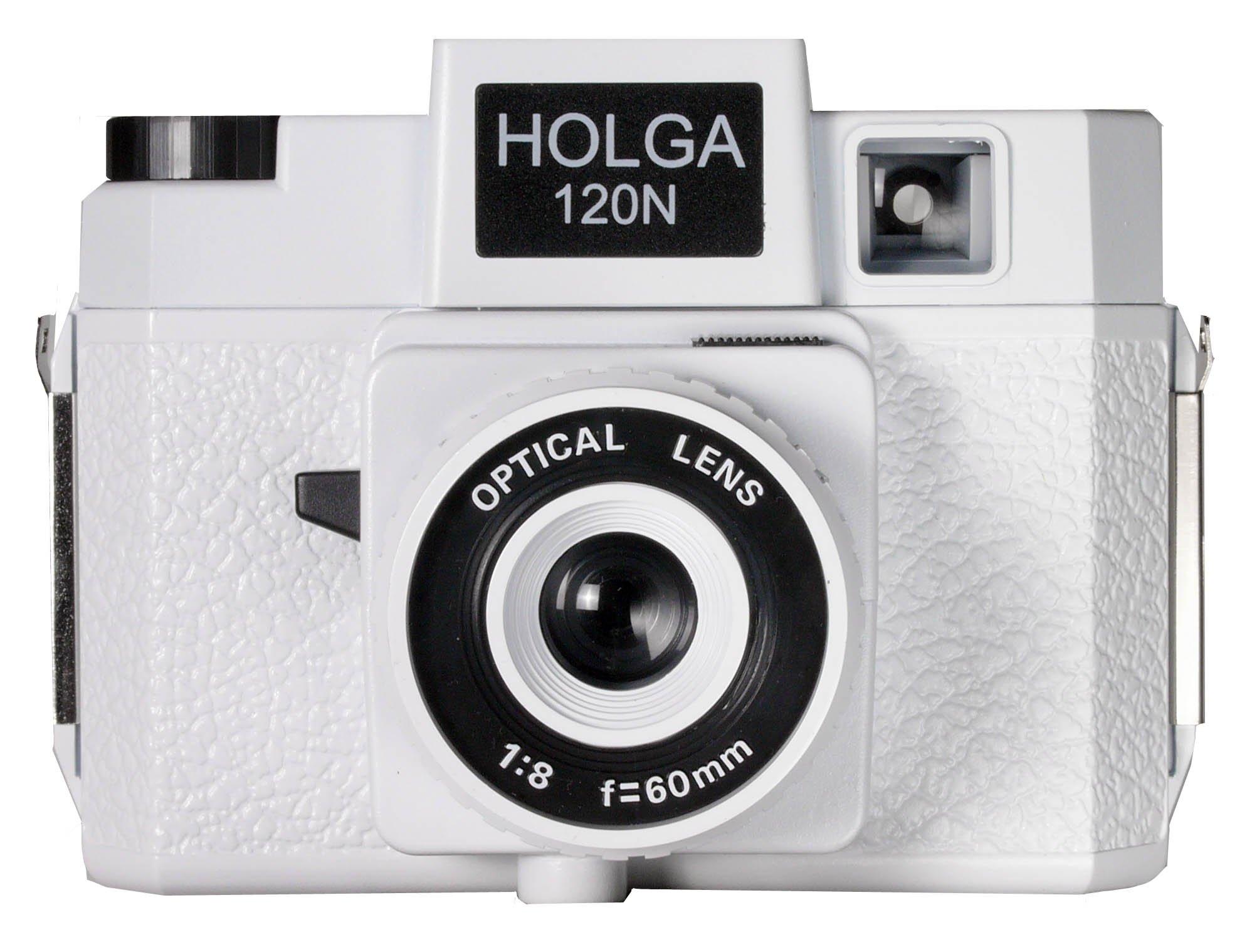 Holga 785120 120N Plastic Medium Format Camera - White (Black) by Holga