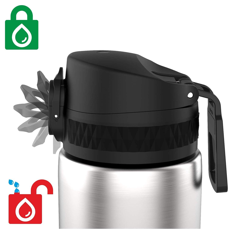 Ion8 Botella de Agua Estanca de Acero Inoxidable ThermoShield 12oz 360ml