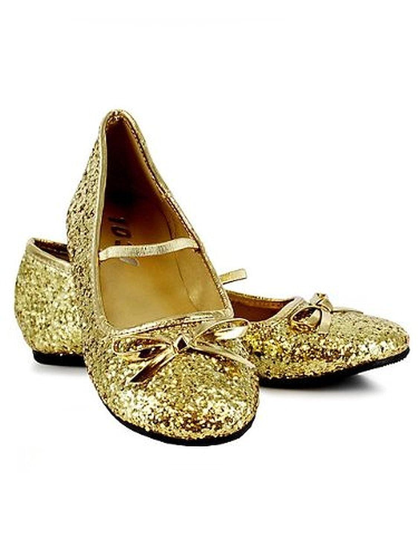 Ellie Shoes E013-BALLET-_S Children's Gold Glitter Ballet Flats 013-BALLET-G