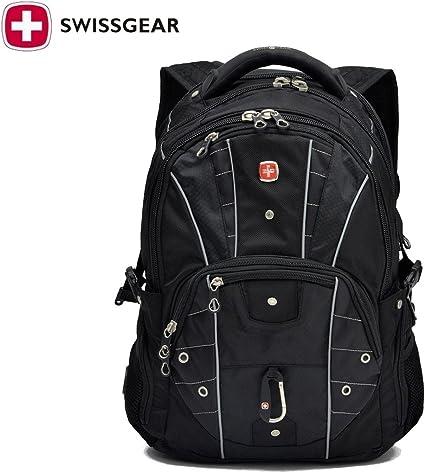 Swiss Gear Sac à dos pour ordinateur portable 43,2 cm Sac de voyage étanche d'extérieur randonnée Sacs à dos étudiants d'école Sac à dos à dos