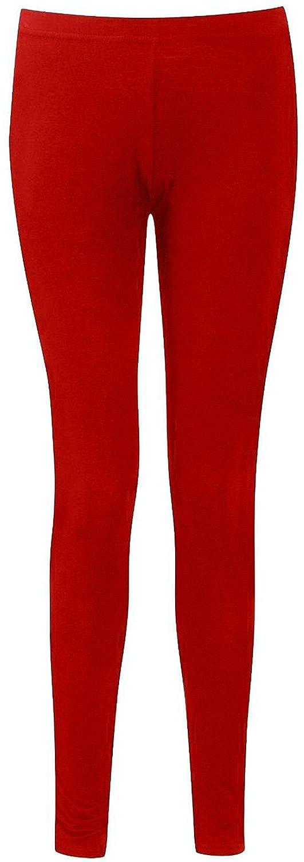 GUBA Big Girls' Plain Cotton Leggings Stretchy Jegging Pants Cotton